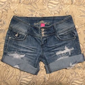 Almost Famous Short or Long Destroyed Jean Shorts